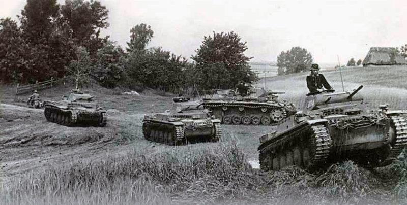 Танки 1-й немецкой танковой армии фон Клейста на Южном фронте.