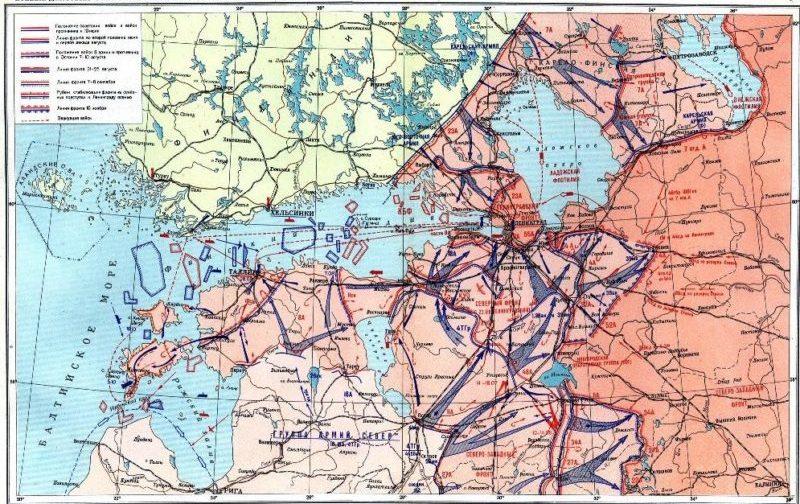 Боевые действия советских и немецких войск на подступах к Ленинграду.
