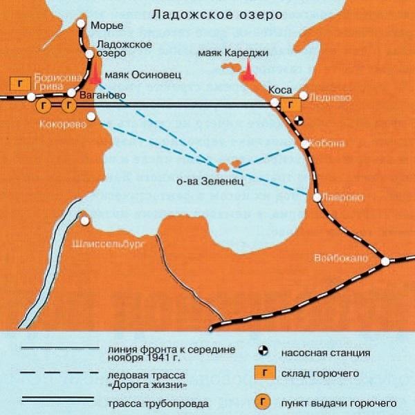 Технологическая схема Ладожского трубопровода.