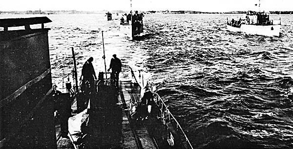 Боевое траление в Финском заливе. Ноябрь 1945 г.