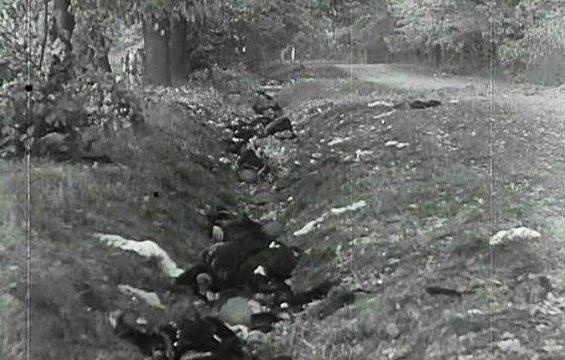 Фотографии погибших десантников, сделанная немцами.