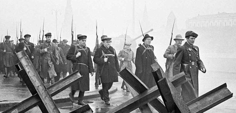 Московские ополченцы.