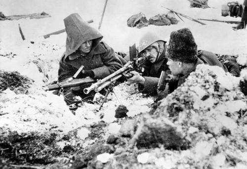 Румынские солдаты в обороне у Сталинграда. 1942 г.