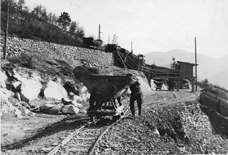 Строительство форта «Monte Grosso». 1935 г.