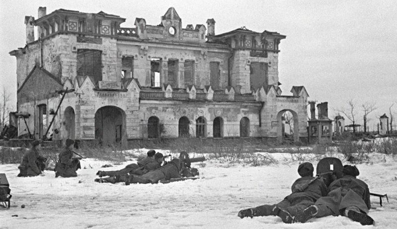 Битва на окраине Ленинграда.