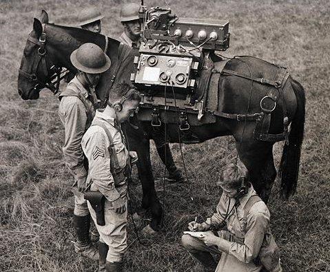 Походная радиостанция. 1944 г.