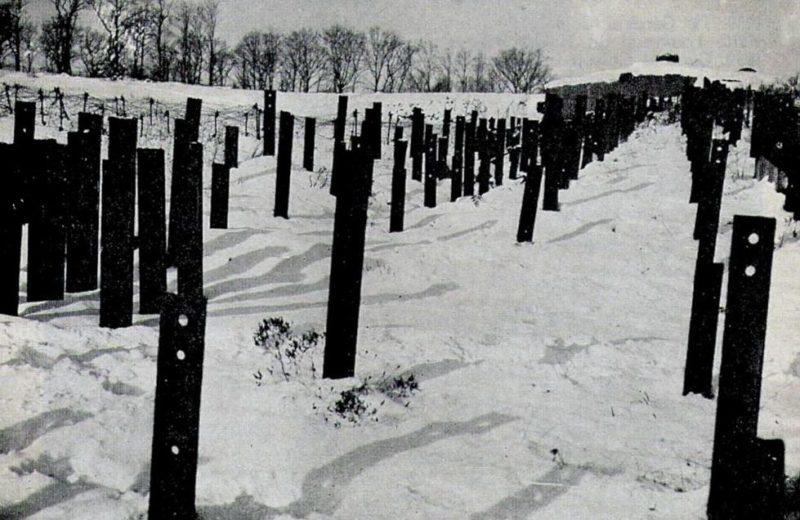 Противотанковые заграждения форта «Hackenberg».