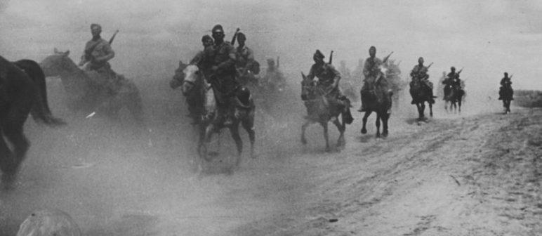 Румынские кавалеристы на марше у Азовского моря. Сентябрь 1942 г.