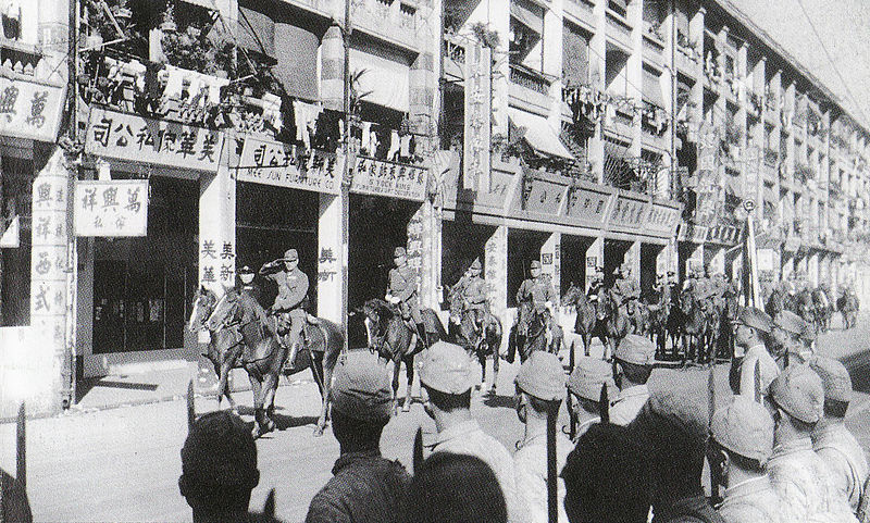 Японские всадники в Гонконге.