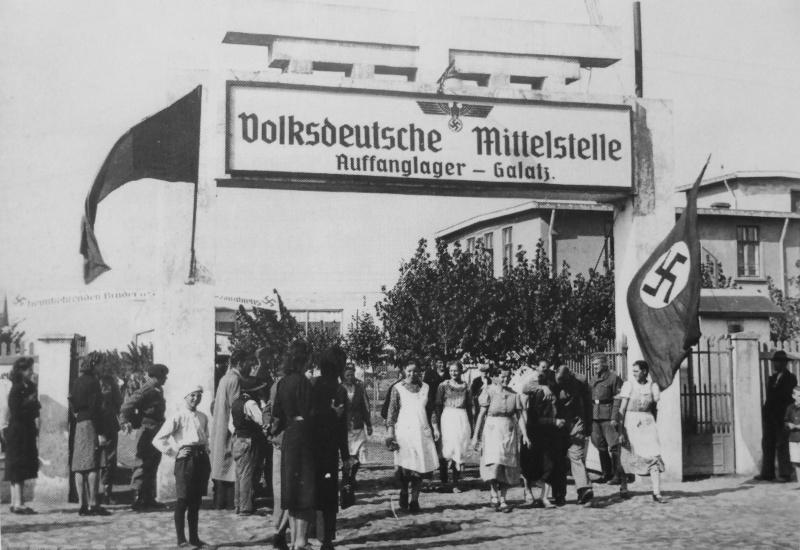 Приемный лагерь немецкой «Центральной службы по делам этнических немцев» в Румынии. Октябрь 1940 г.