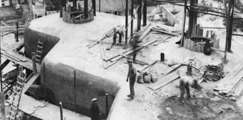 Строительство боевых блоков Линии Мажино. 1936 г.
