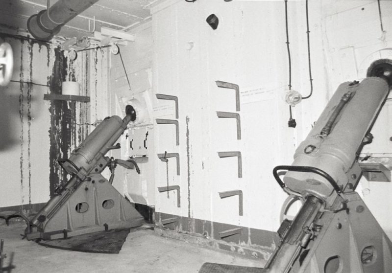 Позиции 81-мм казематных минометов форта «Monte Grosso».