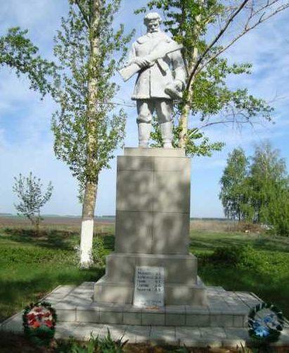с. Петропавловка Медвенского р-на. Памятник, установленный в 1962 году на братской могиле, в которой захоронено 6 советских воинов, в т.ч. 1 неизвестный.