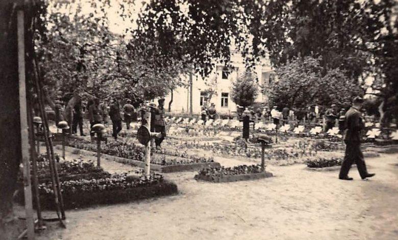 Немецкое кладбище возле Бобруйского собора. Июнь 1941 г.