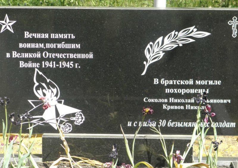 с. Олым Касторенского р-на. Братская могила советских воинов.