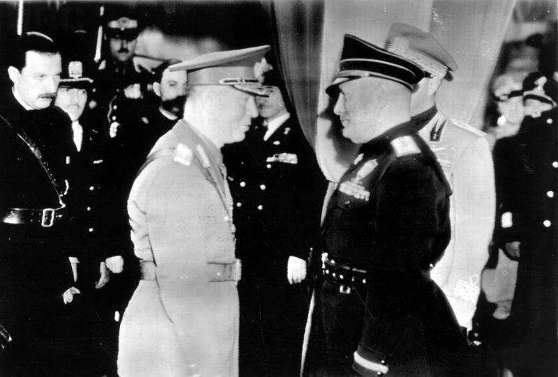 Ион Антонеску и Бенито Муссолини. Рим, ноябрь 1940 г.