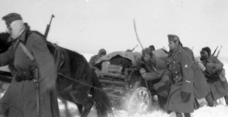 Венгерские солдаты на Восточном фронте. 1942 г.