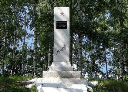 с. Гридасово Обоянского р-на. Памятник землякам, погибшим в годы войны.