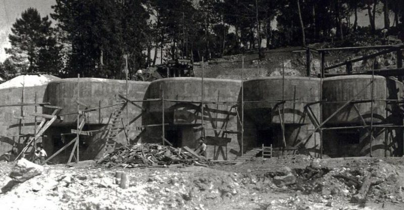 Строительство форта «Roquebrunne». 1937 г.