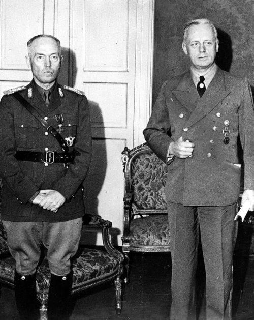 Ион Антонеску в Министерстве иностранных дел Риббентропа. Берлин, ноябрь 1940 г.