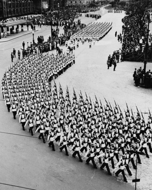 Военный парад в Сан-Паулу. 7 сентября 1943 г.