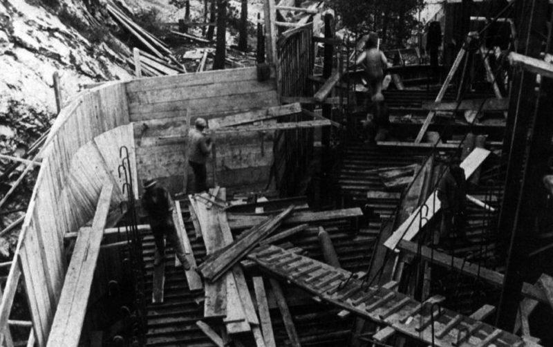Строительство форта «Cap Martin». 1937 г.
