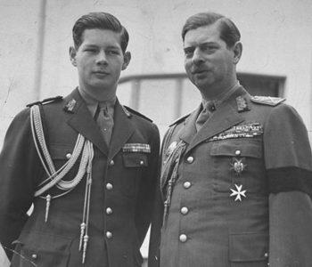 Короли Румынии Михай I и Кэрол II. 1940 г.