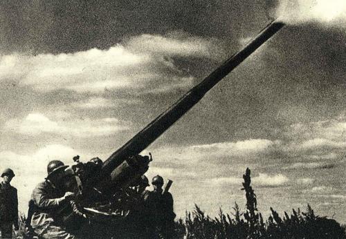 Артиллерийские позиции в Крыму. 1942 г.