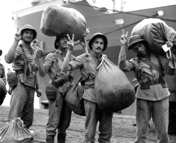 Бразильские солдаты прибыли в Италию. Июль 1944 г.