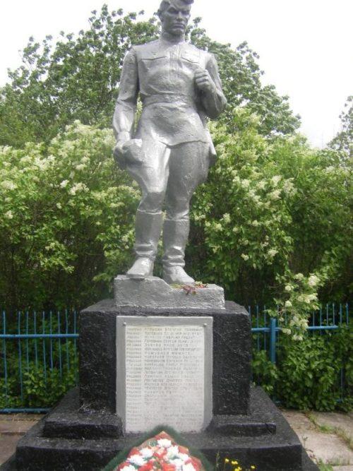 с. Коробкино Конышёвского р-на. Памятник, установленный в 1955 году на братской могиле, в которой захоронено 47 советский воинов, в т.ч. 20 неизвестных, погибших в феврале 1943 г.