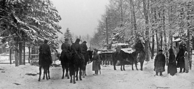Конный патруль в Подмосковье. 20 декабря 1941 г.
