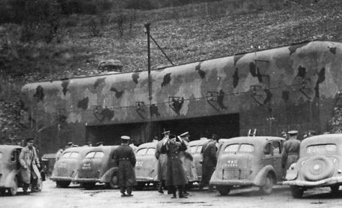 Посещение форта «Хакенберг» иностранной делегацией.