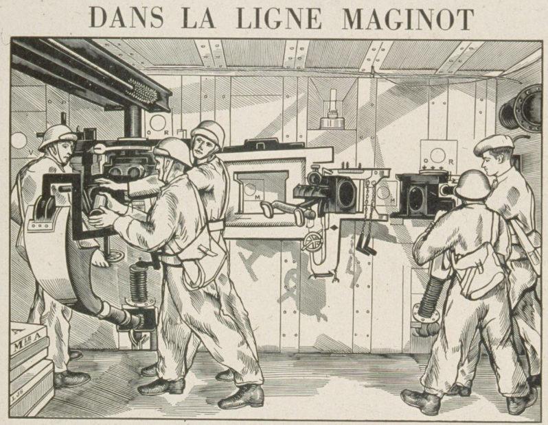 Французская листовка о линии Мажино. 1939 г.