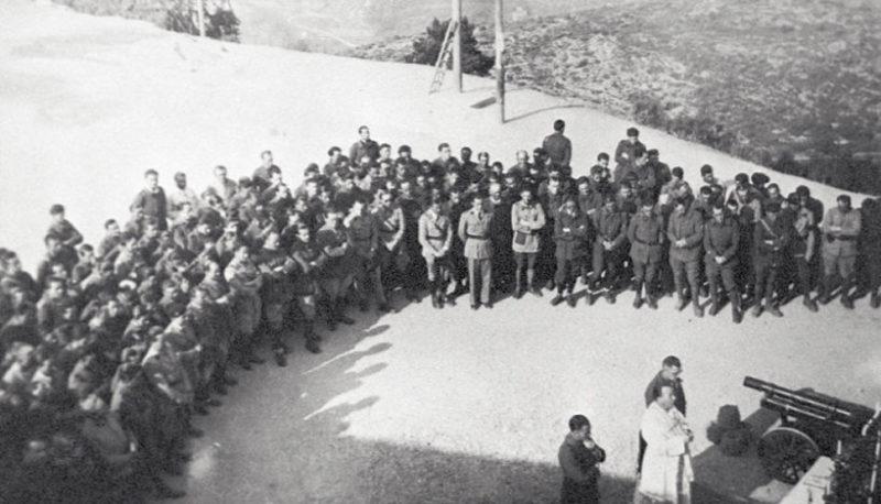 Гарнизон форта «Monte Grosso». 1938 г.