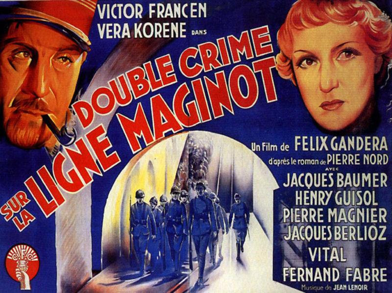 Постер к художественному фильму «Двойное преступление на линии Мажино», снятого в 1937 году.
