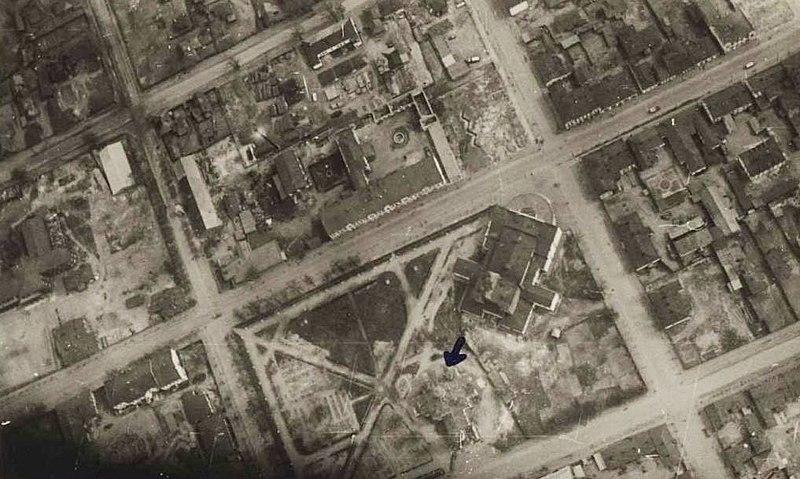 Аэрофотосъемка центра города. 1941 г.