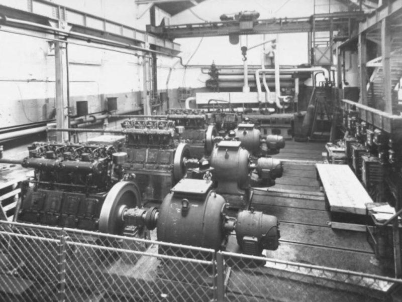 Машинный зал форта «Bousse». 1938 г.