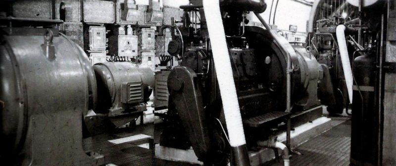 Машинный зал форта «Col de Brouis». 1939 г.