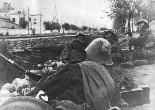 Горные стрелки у Нальчика. 1942 г.