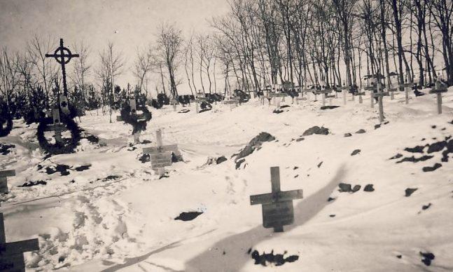 Немецкое кладбище в парке. 1942 г.