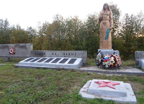 с. Скородное Большесолдатского р-на. Памятник воинам, погибшим в годы войны.