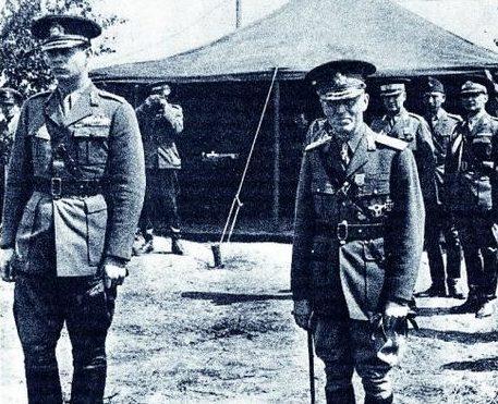 Маршал Антонеску и король Михай на Восточном фронте. 1942 г.