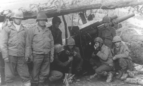 Бразильские артиллеристы. 1944 г.