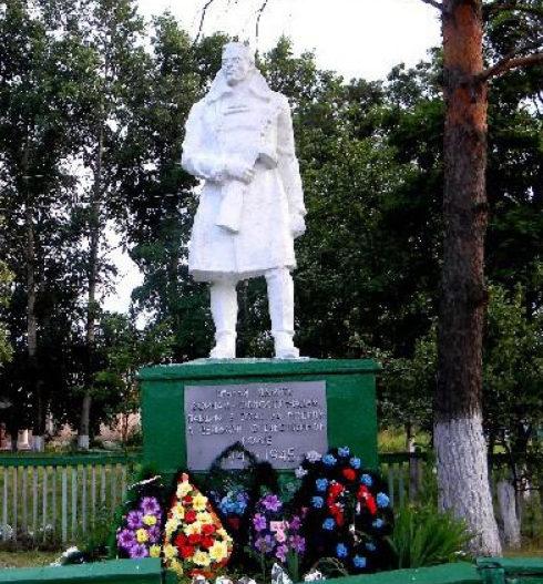 с. Снагость Кореневского р-на. Памятник односельчанам, погибшим в годы войны.