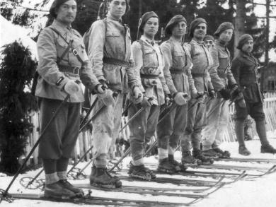 Румынские горные стрелки из 10-го батальона. 1942 г.