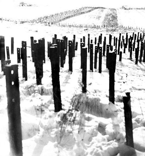 Противотанковые заграждения форта «Hackenberg». 1939 г.