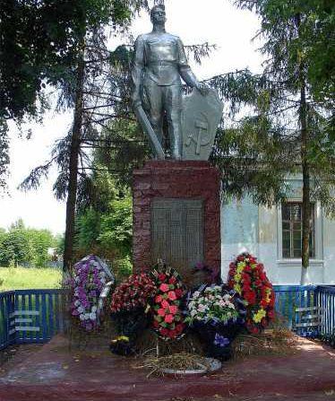 с. Карыж Глушковского р-на. Памятник советским воинам, павшим в годы войны.