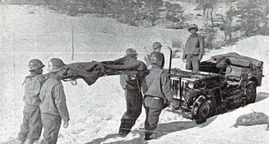Эвакуация раненного. Италия 1944 г.