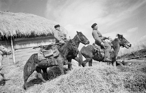 Казачий расчет бронебойщиков. 1941 г.