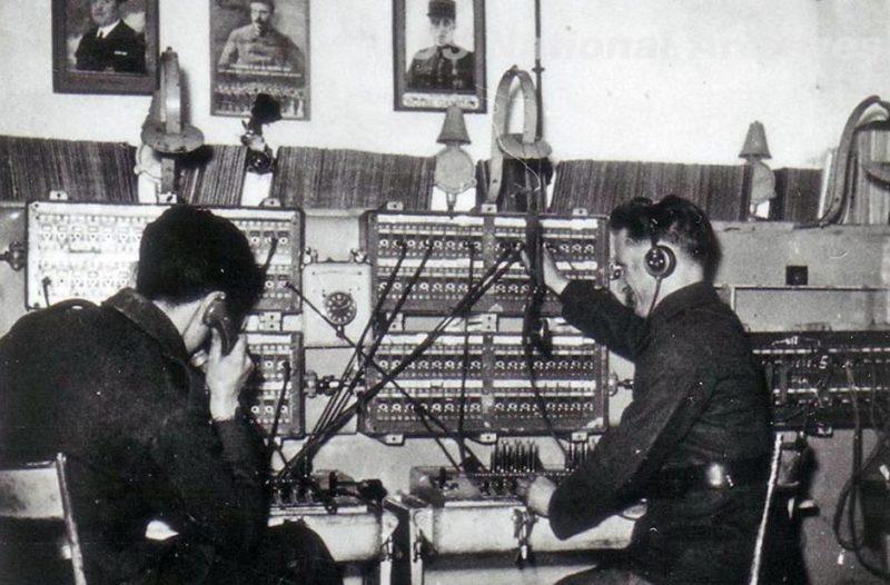 Телефонный коммутатор форта «Hackenberg». 1939 г.